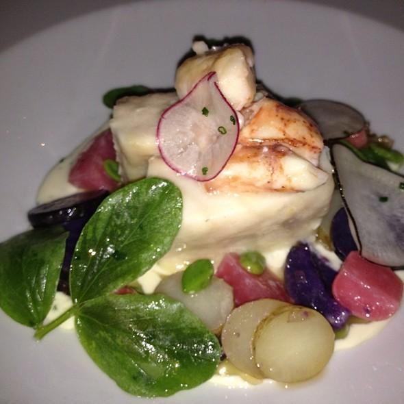 Smoked Sturgeon With Spring Vegetables & Horse Radish Yogurt @ Bouchon