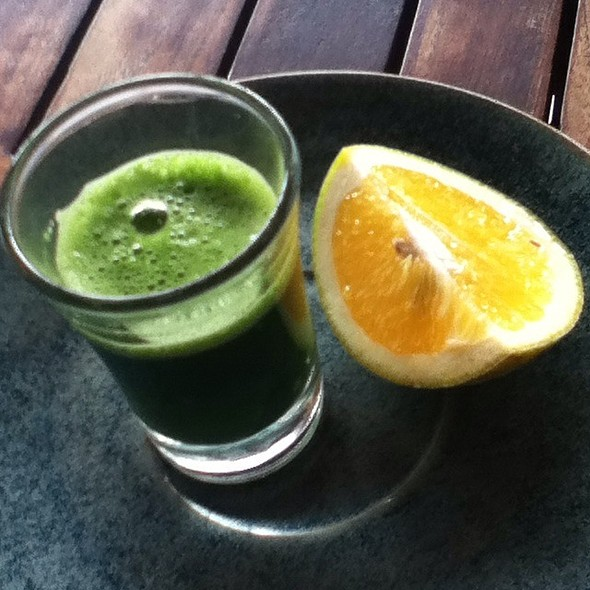 Wheatgrass Shot @ Juice Ja Café