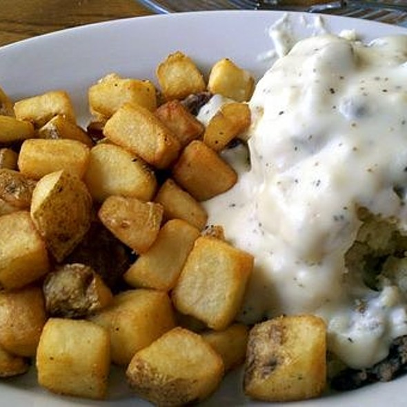Biscuits with Sausage Gravy, Home Fries