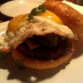 Brunch! Chorizo Burger With A Sunny Side Egg!
