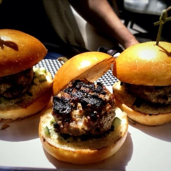 Mini Lamb Burger @ Trace