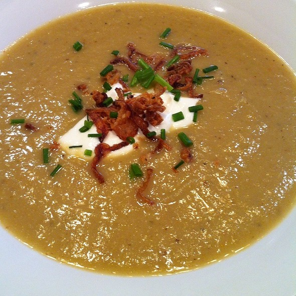 Creamy Turnip Soup With Fried Shallots And Creme Fraische @ The Fat Tuscan Cafe