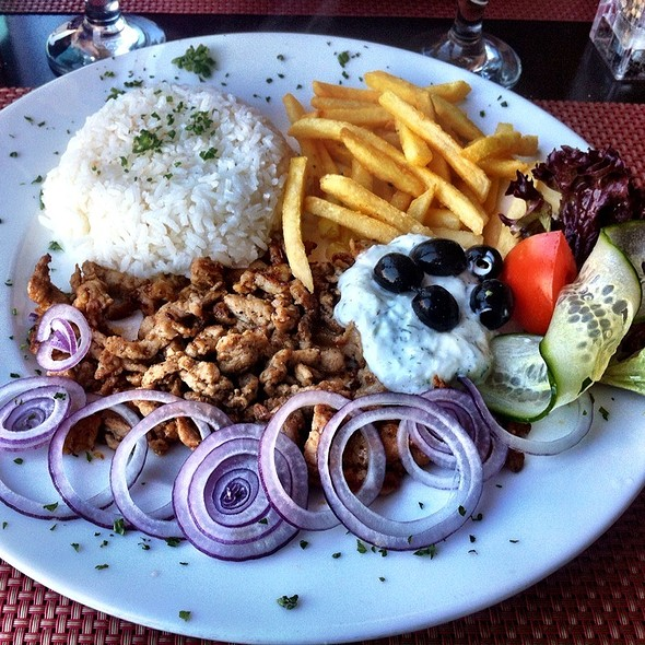 Gyros with fries and Tsatziki @ Amigos bar & restaurant