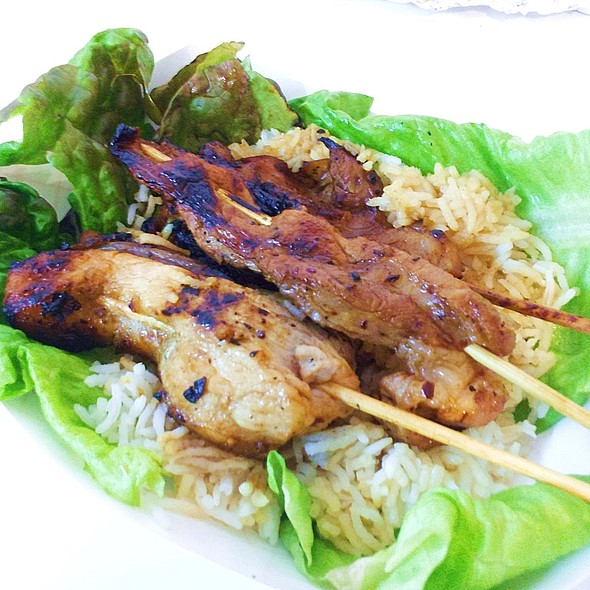 Korean BBQ Pork Belly Lettuce Wraps with Basmati & Sesame Gastrique