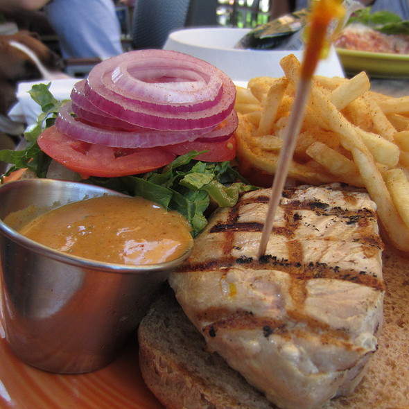 Grilled Tuna Burger @ Barnaby's Cafe