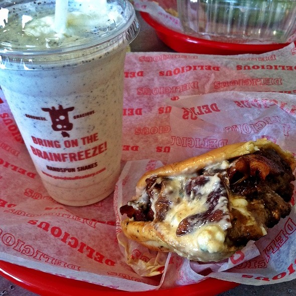 Prez Obama Burger & Vietnamese Coffee Shake @ Good Stuff Eatery