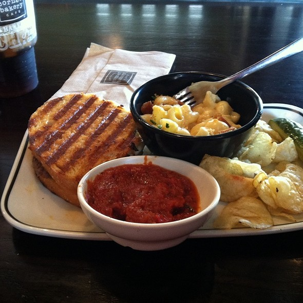 Sliced Meatball Panini & Mac & Three Cheese at Corner Bakery Cafe in ...