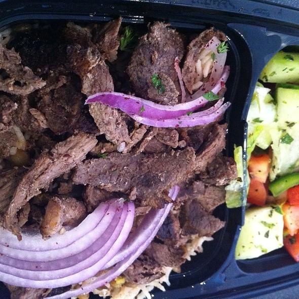 Beef Shawarma Platter - Ali Baba, South San Francisco, CA