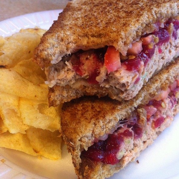 Grilled Tuna Melt With Cranberry Sauce @ The Skinny Chef Inc