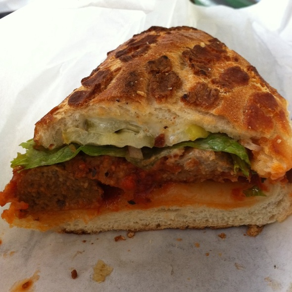 Meatball Sandwich on Dutch Crunch @ Lucca Food Store