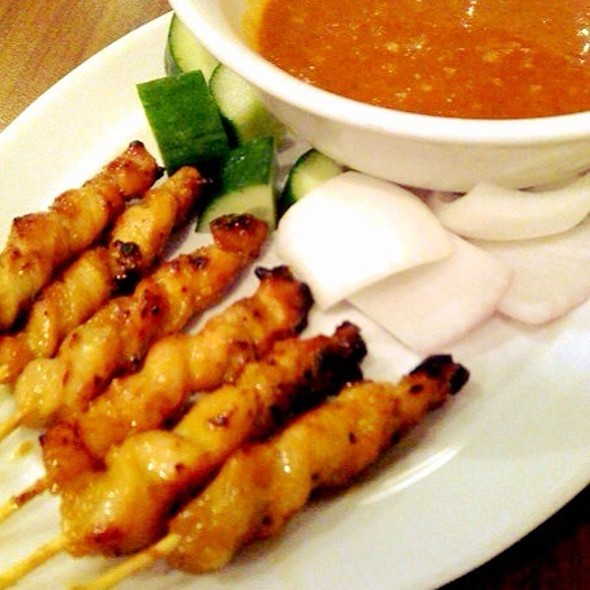 Chicken Skewers With Peanut Sauce @ Mamak
