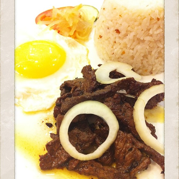 Beef Tapa With Garlic Rice & Egg @ Dulcinea