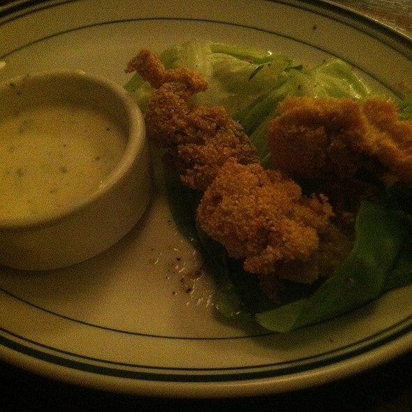Cornmeal Fried Oysters @ Vesta Trattoria & Wine Bar