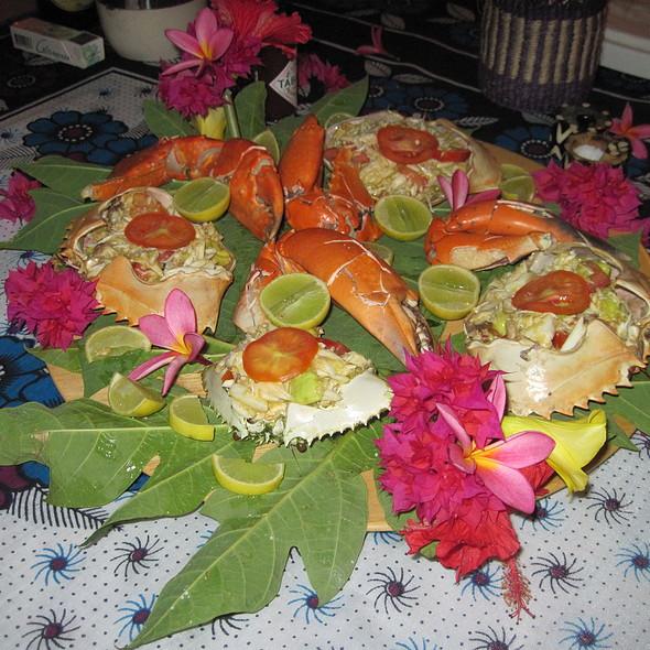 Crab Avocado Platter @ Crazy Mzungo's Zanzibar