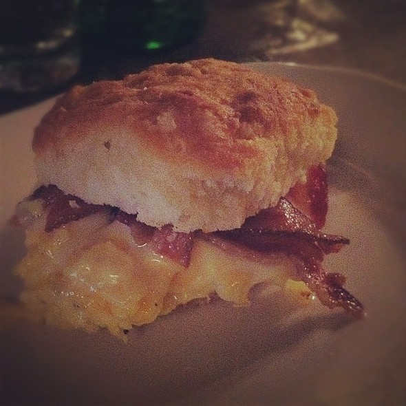 breakfast with @amycao: bacon, egg & cheese biscuit.  #breakfast @ Marlow & Sons