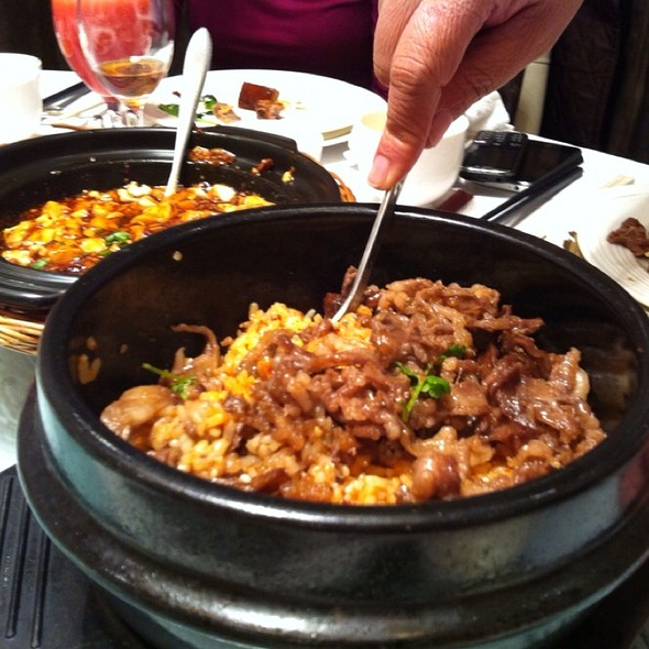 Cast Iron Pot Rice With Fermented Vegetable & Spicy Pork Strips @ Shanghai Xiao Nan Guo