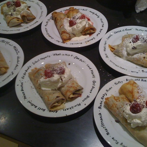 Chocolate & Raspberry crepes @ ReMARKable Palate Personal Chef Service