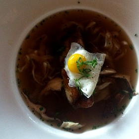 Pork Belly, Qual Egg, Noodles In Miso Soup