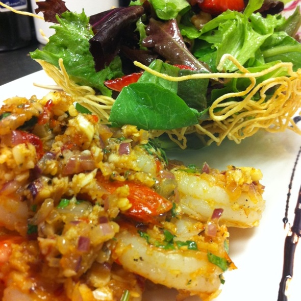 Spicy Prawn San Metao Salad @ Blackhawk Golf Club