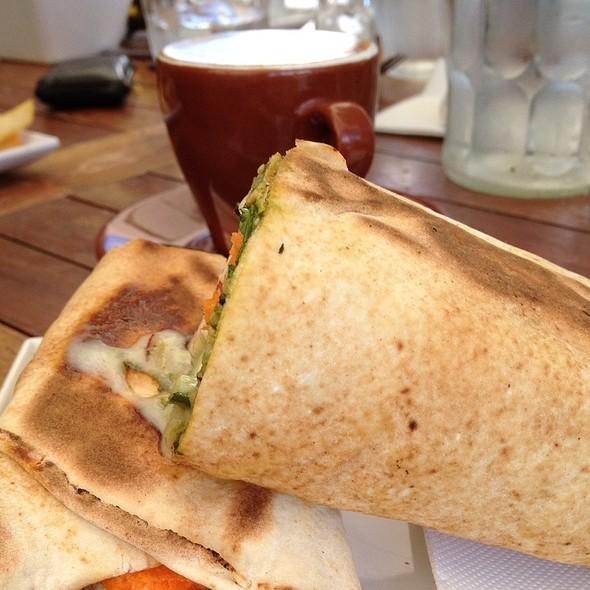 Chicken Wrap And Campus Coffee @ Dunes Restaurant & Kiosk, Palm Beach
