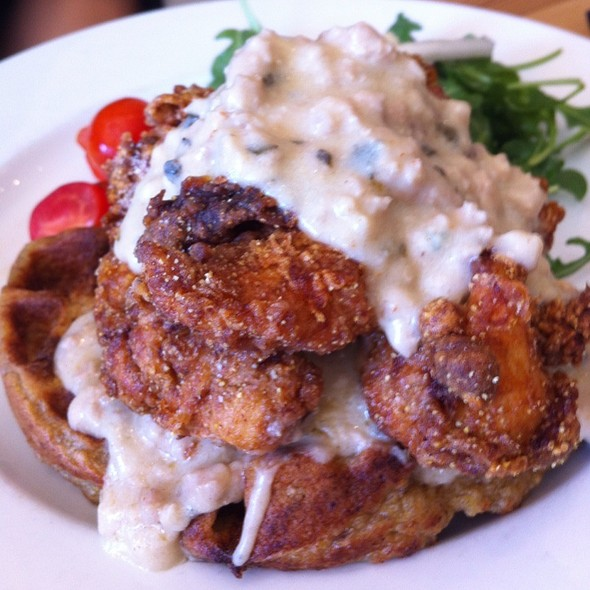 Chicken and Waffles @ Nana