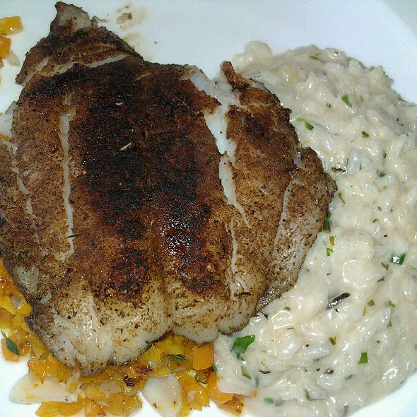 Jerk Grouper W Herbed Risotto And Butternut Squash