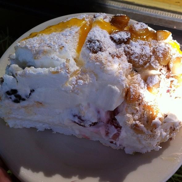 Pavlova With Fresh Fruits N Cream @ Lucia's Restaurant