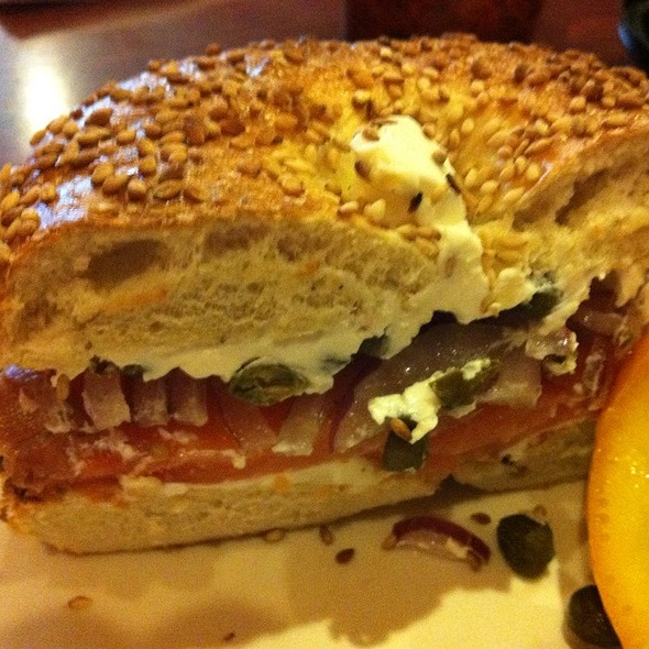 Bagel with Lox and Cream Cheese @ Spill'n the Beans Coffeehouse & Bistro