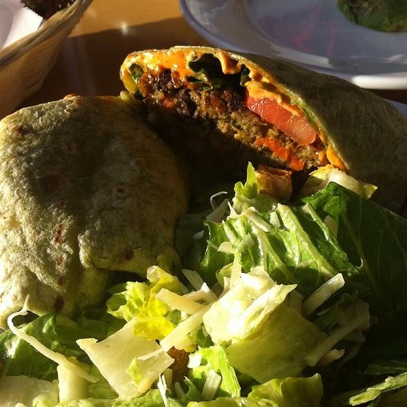 New American Veggie Burger @ Hugo's Restaurant