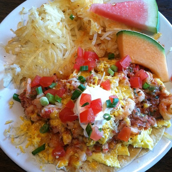 Crab And Shrimp Huevos Rancheros @ Moss Landing Cafe
