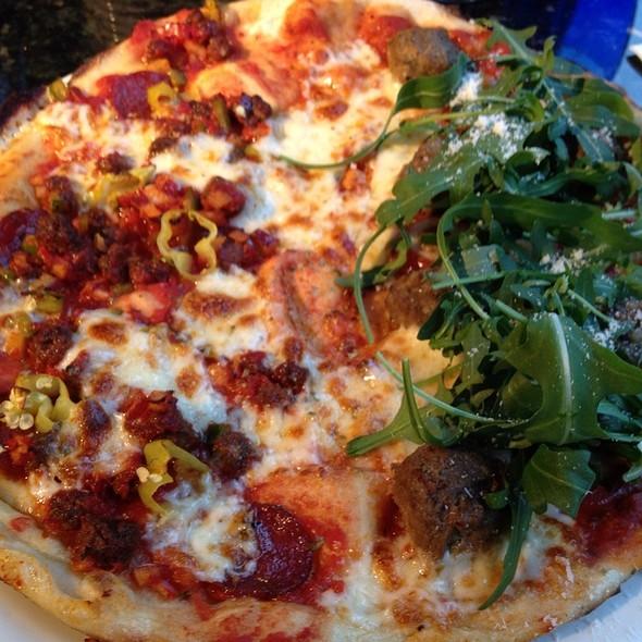 Half Diablo Half Meatball Pizza @ Pizza Express