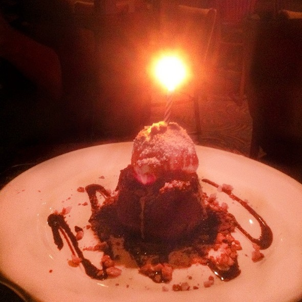 Chocolate Volcano Birthday Cake - Chart House Restaurant - Melbourne, Melbourne, FL