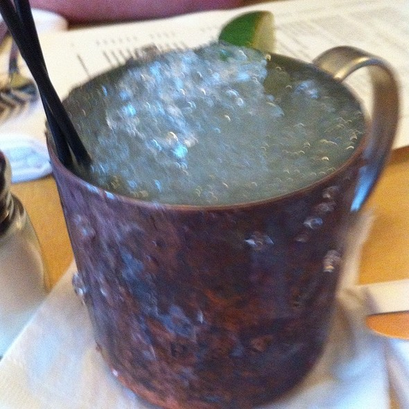 Moscow Mule	 Russian Standard Vodka, Fresh Ginger, Lime, Served Over Crushed Ice 10  @ Little Dom's