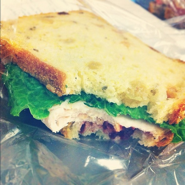 Fresh Oven Roasted Turkey with Cranberry Sauce Sandwich @ Amy's Bread