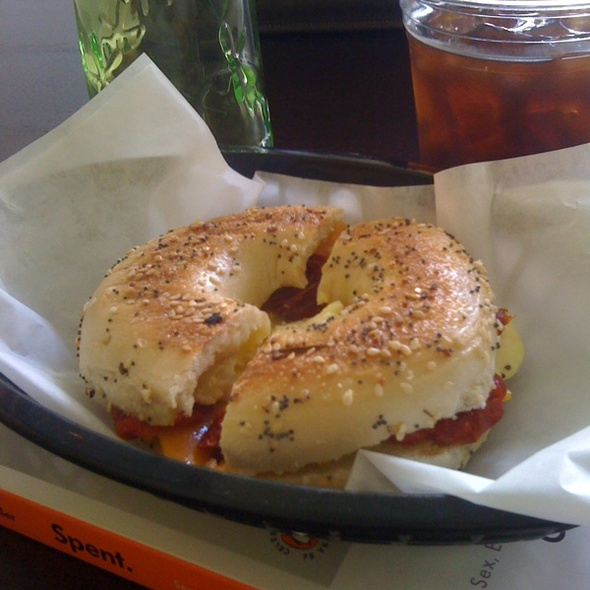 Bagel Breakfast Sandwich @ Little Bird Coffeehouse