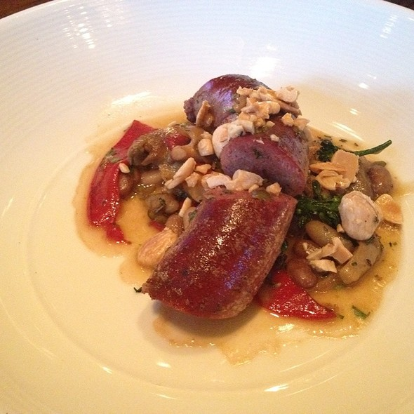Elk Sausage With Broccoli Rabe & Marcona Almonds @ Apex, Montage, Deer Valley