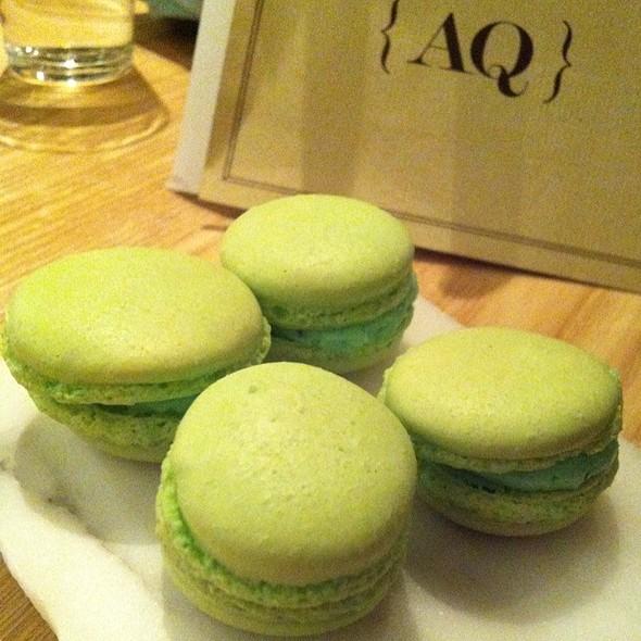 Mint And English Pea Maccaroon @ AQ Restaurant & Bar