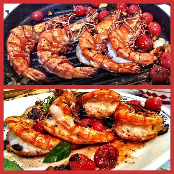 I Cooked These Jumbos On My New Cuisinart Grill Skillet And They Actually Had A Nice Grilled Flavor - Simple & Fresh Ingredients - Amazingly Good  @ Tom's Kitchen