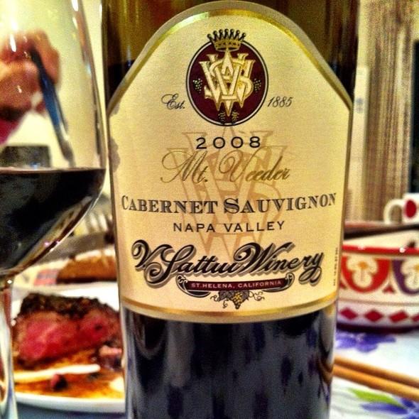 Sattui Winery (Mt. Veeder) Cabernet Sauvignon 2008 @ Sattui Winery