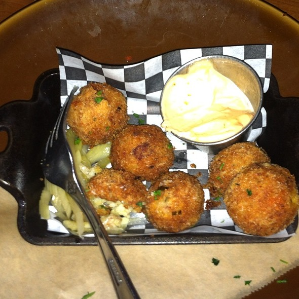 Ham And Cheese Fritters @ Brave Horse Tavern