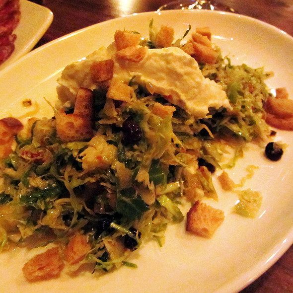 Shaved Brussels Sprouts Salad @ Sorella