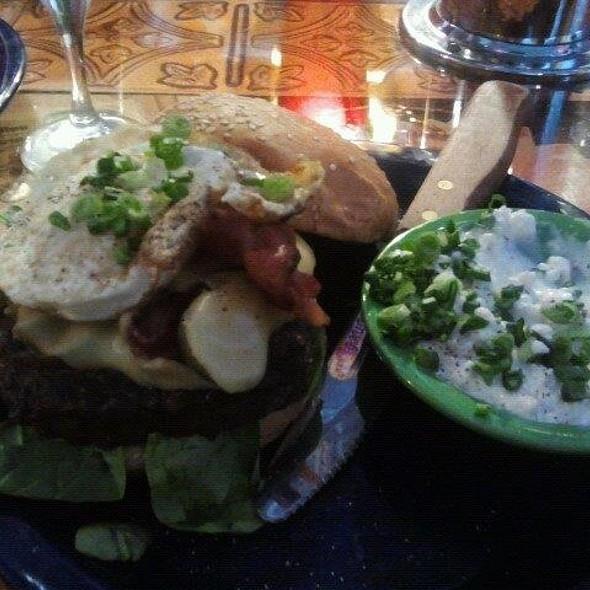 Hamburger with Fried Egg @ Hamburger Mary's
