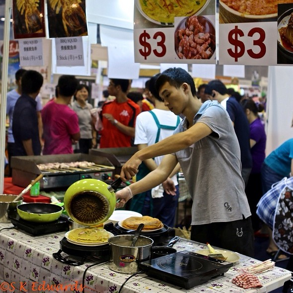 Korean Seafood Pancakes @ Singapore Food & Beverage Fair 2012 @Suntec