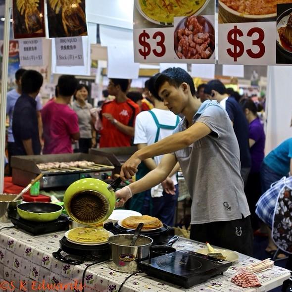 Korean Seafood Pancakes @ Singapore Food & Beverage Fair 2012 @Suntec