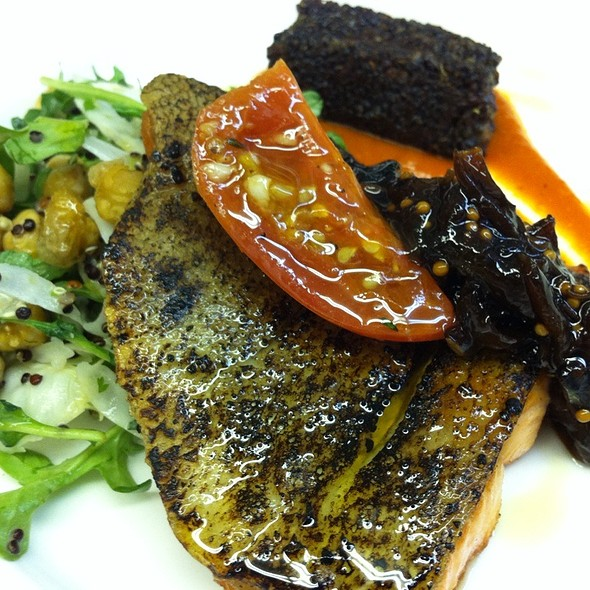 Steelhead With Confit Tomatoes And A Fried Chickpea Salad - The Lodge Restaurant at Black Butte Ranch, Black Butte Ranch, OR