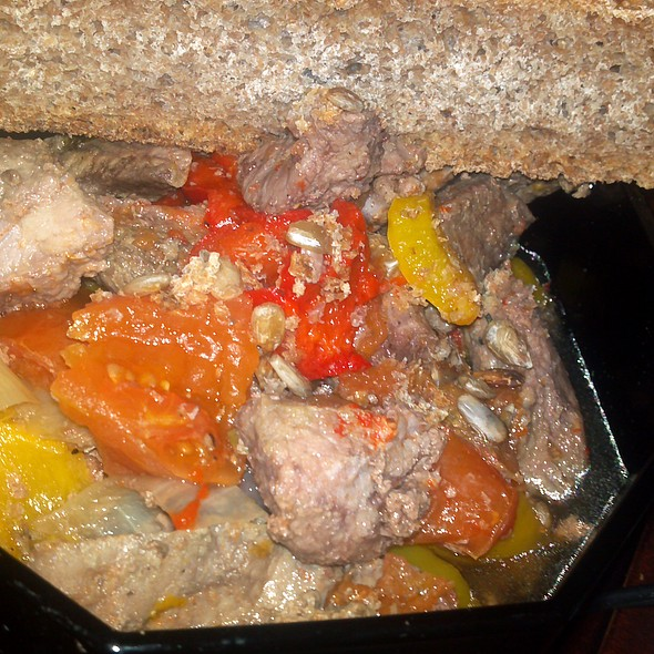 Pepper Steak with whole wheat sunflower bread @ The Burrow