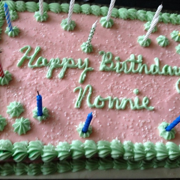Nonnies Birthday Cake @ Mudder's World
