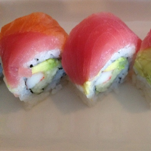 Rainbow Sushi Roll @ Sushi Pirate