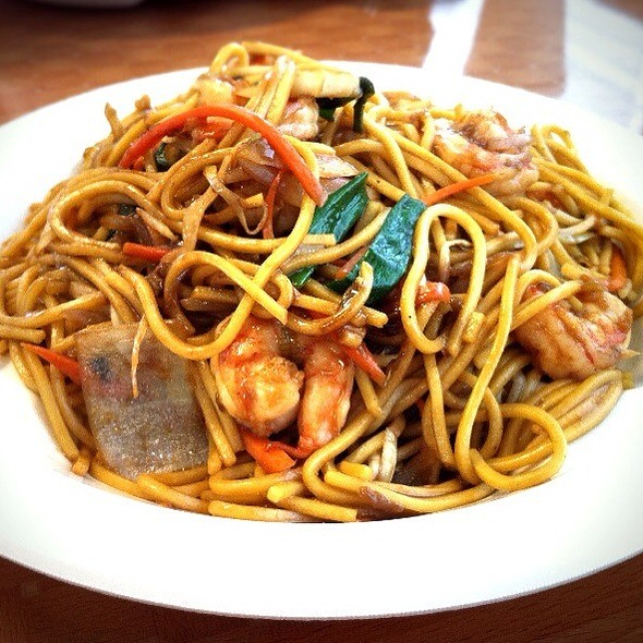 Shrimp Lo Mein @ Egg Roll Cafe
