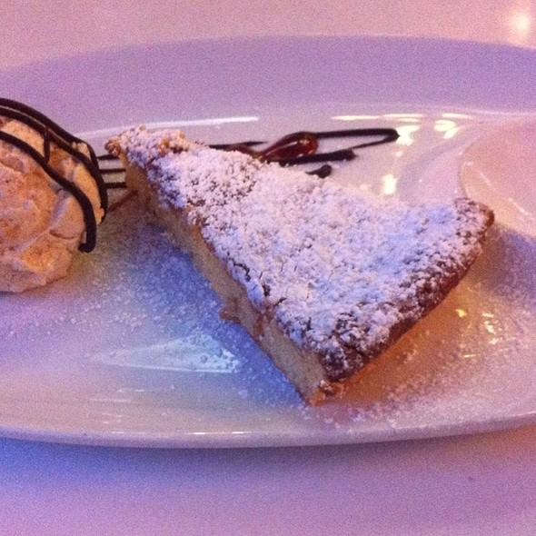 Almond Tart With Nougat Ice Cream